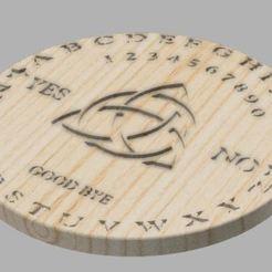 1.JPG Télécharger fichier STL Planche Ouija ronde • Plan à imprimer en 3D, Nahskaved