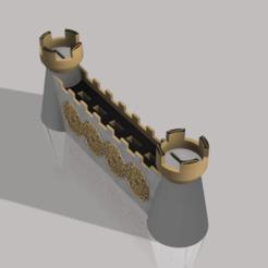 Castle wall v1.png Télécharger fichier STL Porte-cartes USB et SD murale du château • Modèle pour imprimante 3D, Nahskaved