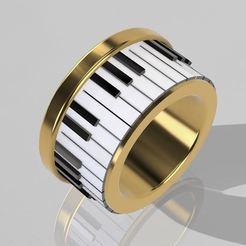 1.JPG Download STL file Piano ring • 3D printing design, Nahskaved