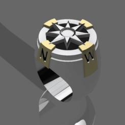 Compass ring v1.png Télécharger fichier STL Anneau de navigation • Modèle pour imprimante 3D, Nahskaved