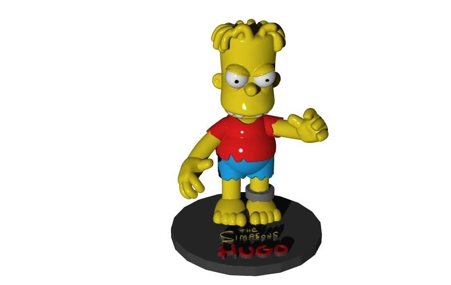 hugo-2.jpg Download free STL file HUGO SIMPSON (BART'S EVIL TWIN) • Template to 3D print, ALTRESDE