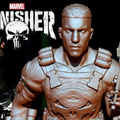 Download free 3D printer designs THE PUNISHER - John Bernthal, ALTRESDE