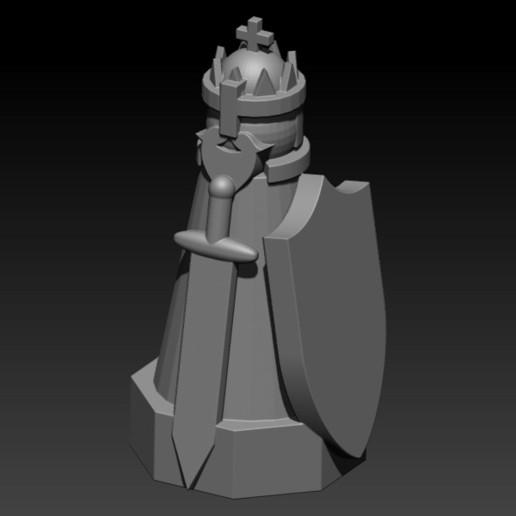 king.jpg Télécharger fichier STL gratuit ÉCHECS MEDIEVAL • Plan pour imprimante 3D, ALTRESDE