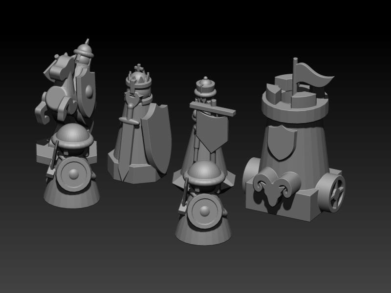 chess1.jpg Télécharger fichier STL gratuit ÉCHECS MEDIEVAL • Plan pour imprimante 3D, ALTRESDE