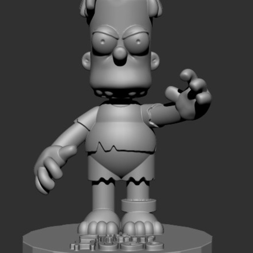 HUGO2.jpg Download free STL file HUGO SIMPSON (BART'S EVIL TWIN) • Template to 3D print, ALTRESDE
