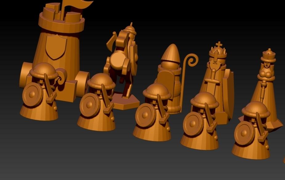 chess.jpg Télécharger fichier STL gratuit ÉCHECS MEDIEVAL • Plan pour imprimante 3D, ALTRESDE