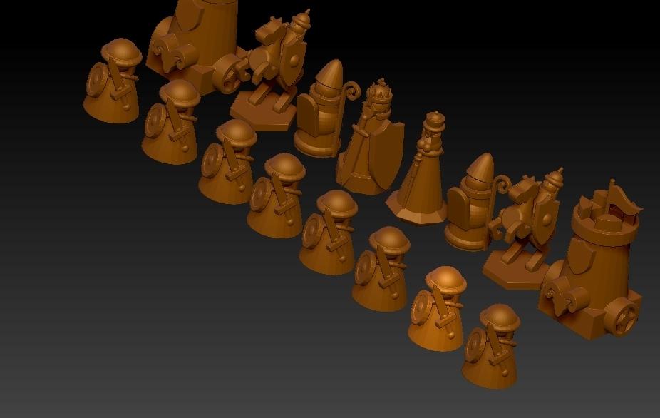 chess2.jpg Télécharger fichier STL gratuit ÉCHECS MEDIEVAL • Plan pour imprimante 3D, ALTRESDE