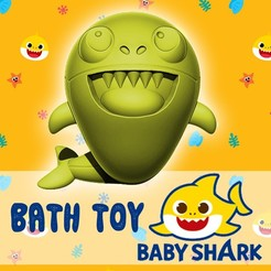 baby shark flyer.jpg Download STL file BABY SHARK - BATHTUB TOY • 3D print template, ALTRESDE