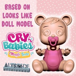 Download 3D printer designs CRYING BABIES - LOOKS LIKE/BASED ON DOLL MODEL, ALTRESDE