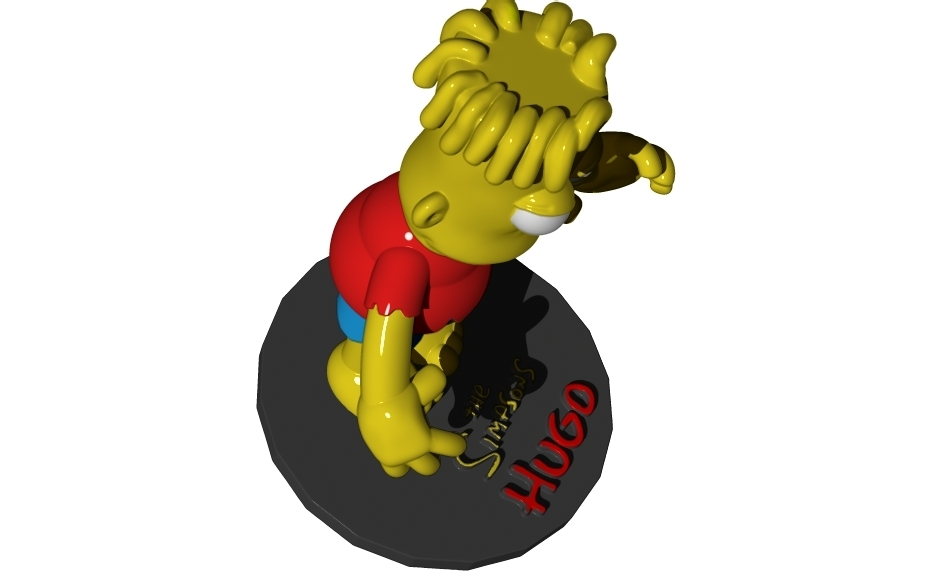 hugo-4.jpg Download free STL file HUGO SIMPSON (BART'S EVIL TWIN) • Template to 3D print, ALTRESDE