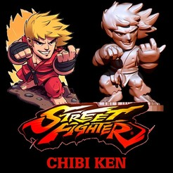 Download free STL file STREET FIGHTER CHIBI KEN • 3D printer model, ALTRESDE