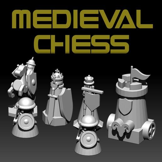 medieval chess.jpg Télécharger fichier STL gratuit ÉCHECS MEDIEVAL • Plan pour imprimante 3D, ALTRESDE