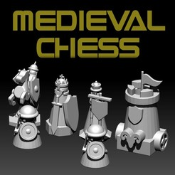 Download free 3D printer designs MEDIEVAL CHESS, ALTRESDE
