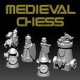 Download free STL file MEDIEVAL CHESS • Design to 3D print, ALTRESDE