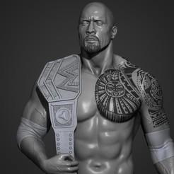 1.jpg Download STL file The Rock - Dwayne Johnson 3D Print • 3D print model, mikaelmarlon1