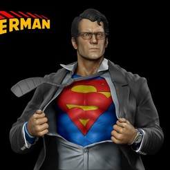 Download 3D printer files Superman - Clark Kent - 3D Print, mikaelmarlon1