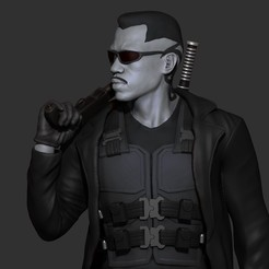 Download 3D printer designs Blade - Likeness Wesley Snipes - 3d Print, mikaelmarlon1
