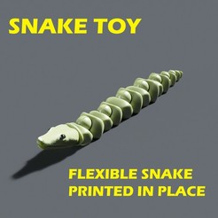 DA.jpg Download 3DS file Flexible snake PRINT IN PLACE • Template to 3D print, JohnData
