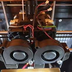 Télécharger plan imprimante 3D gatuit Turbo Fan Duct Makerbot, CTC, Flashforge Bauteilkühler, Leon75
