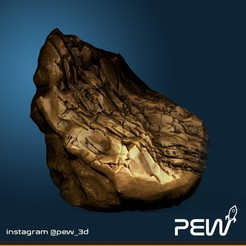 Rock_01.jpg Download free STL file Rocher 01 - Boardgames / Wargames • 3D printer object, pew_3d