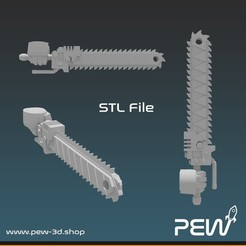 Chainsword_02.jpg Download free STL file Cutting sword for figurine • 3D printable template, pew_3d