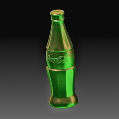Coca - Cola.jpg Download OBJ file Coca-Cola bottle • Model to 3D print, tex123