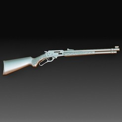 Marlin rifle.jpg Download OBJ file Marlin rifle • 3D printable template, tex123