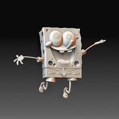 Spongebob.jpg Télécharger fichier OBJ Bob l'éponge • Plan à imprimer en 3D, tex123