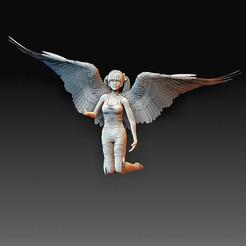 Angel.jpg Télécharger fichier OBJ Fille d'ange • Modèle imprimable en 3D, tex123