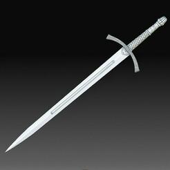 Celtic sword.jpg Download OBJ file Celtic sword • 3D printing design, tex123
