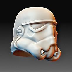 Helmet StarWars.jpg Download OBJ file StarWars trooper helmet • 3D print design, tex123