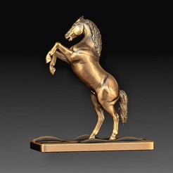 Horse 3.jpg Download OBJ file Horse statue • 3D printing design, tex123