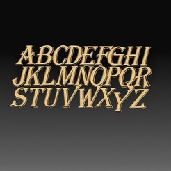 Alphabet.jpg Download STL file Letters of the alphabet • 3D printing model, tex123