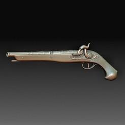 Duel gun.jpg Download OBJ file Duel gun • 3D printer object, tex123