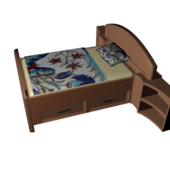 Download 3D printing designs My daughter's bed, tex123