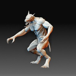 Werewolf 2.jpg Télécharger fichier OBJ Loup-garou • Plan à imprimer en 3D, tex123