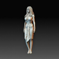Princess of Thrace.jpg Download OBJ file Princess of Thrace • 3D print object, tex123