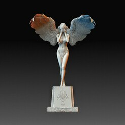 Angel girl.jpg Download OBJ file Angel Girl 2 • Object to 3D print, tex123