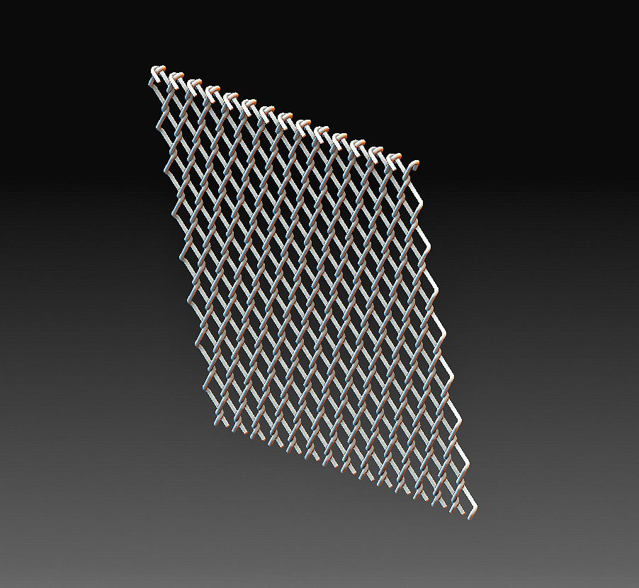 Fence 2.jpg Download OBJ file Wire fence • 3D printing template, tex123