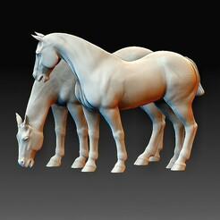 Horses.jpg Télécharger fichier OBJ Chevaux • Design pour impression 3D, tex123