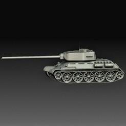 T - 34.jpg Download OBJ file Panzer T-34 • 3D printable design, tex123