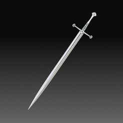 Anduril sword.jpg Télécharger fichier OBJ L'épée d'Anduril • Plan imprimable en 3D, tex123