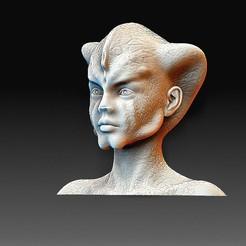 Reptilian head 2.jpg Télécharger fichier OBJ Tête reptilienne • Plan pour imprimante 3D, tex123
