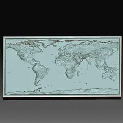 3D World map.jpg Télécharger fichier OBJ Carte du monde en 3D • Design pour imprimante 3D, tex123