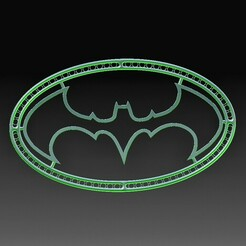 Batman.jpg Download OBJ file Batman ornament • 3D print object, tex123