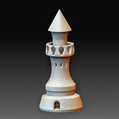 Tower 2 A.jpg Download OBJ file Tower 2 • 3D printer template, tex123