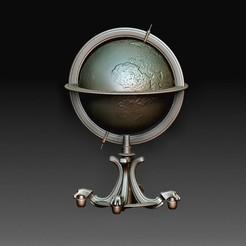 Earth globe.jpg Download OBJ file Earth globe • 3D printable template, tex123