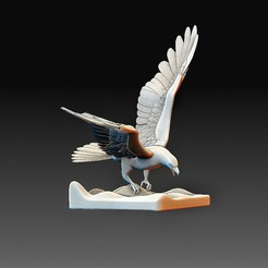 Eagle.jpg Télécharger fichier OBJ Aigle • Modèle imprimable en 3D, tex123