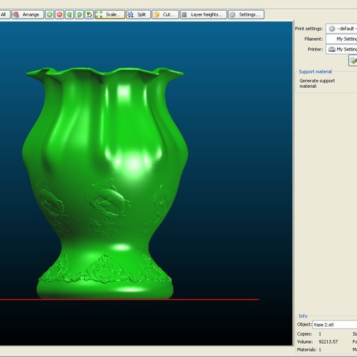 3D printable model.jpg Download OBJ file Vase model 2 • 3D printing model, tex123