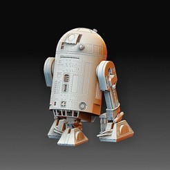 R2D2.jpg Download OBJ file StarWars R2D2 • 3D print design, tex123